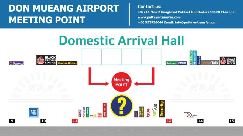 GATES 5 Don Muang domestic meeting point